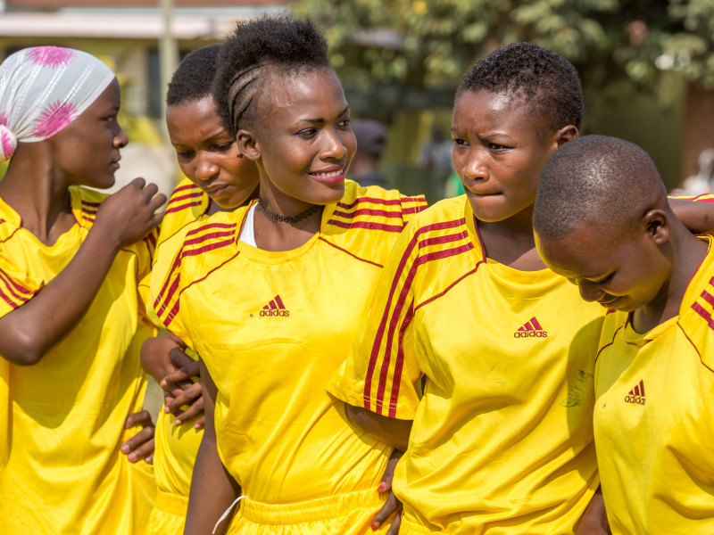 Girls take part in a football tournament aimed to raise awareness of the dangers of FGM