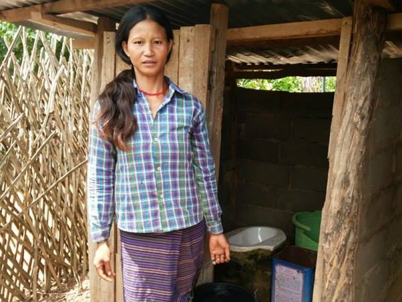 A new toilet has helped to improve the life of a family in Timor Leste