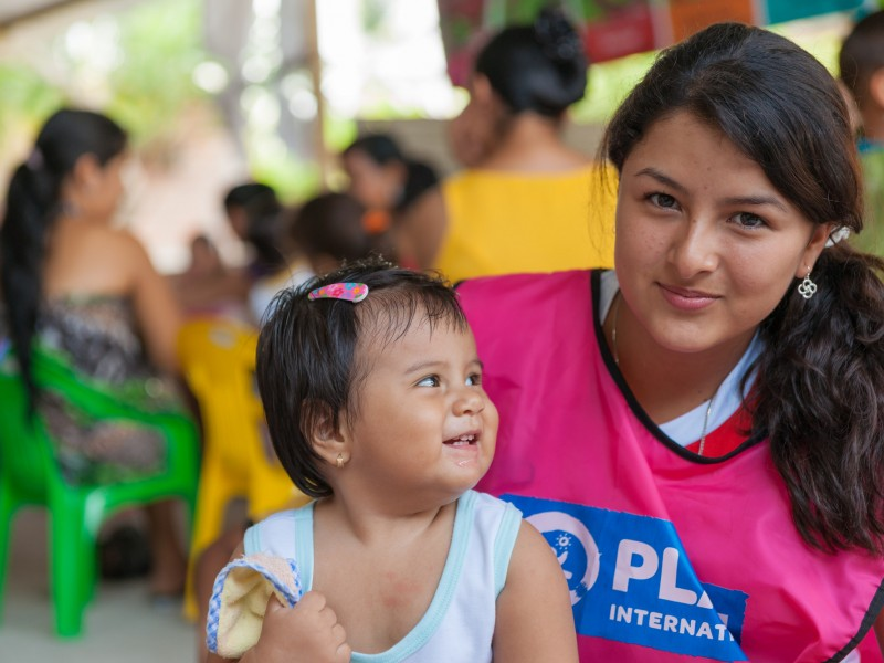 Manuela was able to go back to school after the earthquake thanks to education kits from Plan International