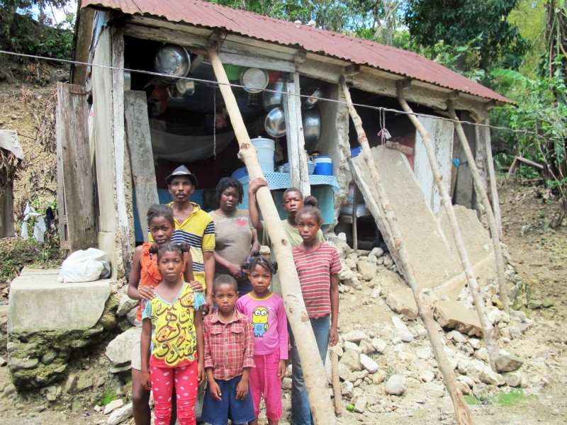 Nadege and her familys house needs to be rebuilt after hurricane matthew hit