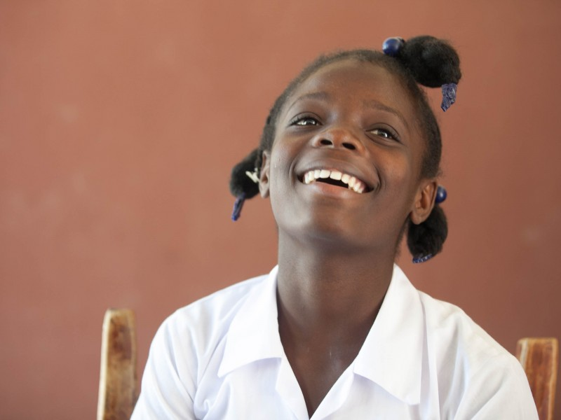 Sponsored girl in Haiti