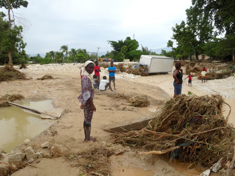 Dadie lost everything in the hurricane, but was able to get her five children to safety