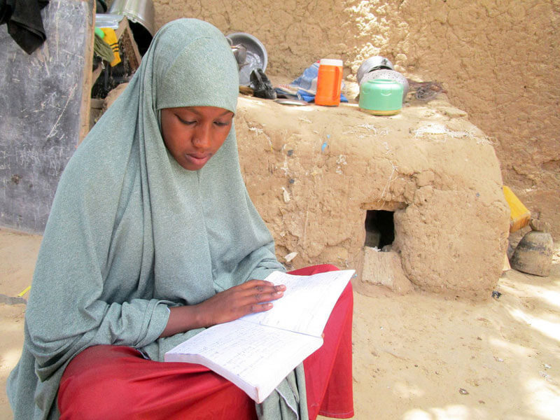 Halima is studying at home during lockdown, but she find its hard