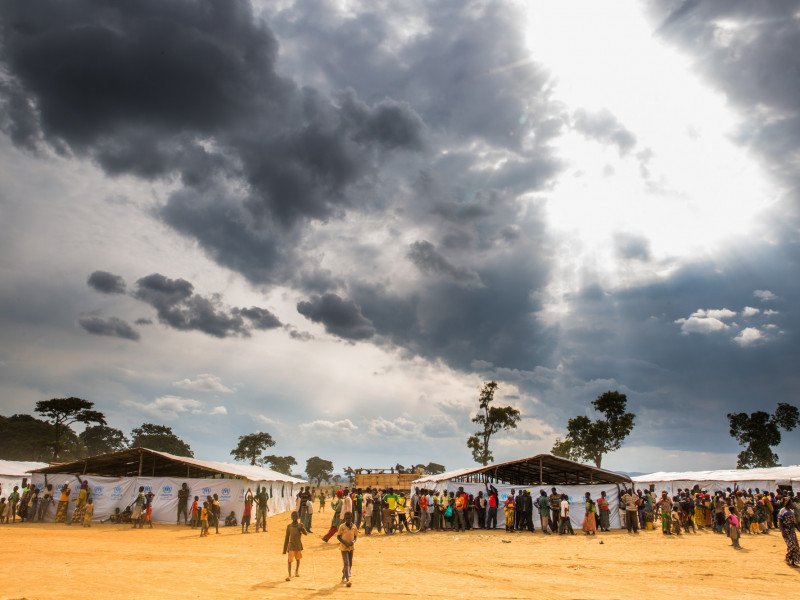 Nyarugusu camp, which is now overcrowded with the arrival of 35,000 Burundian refugees