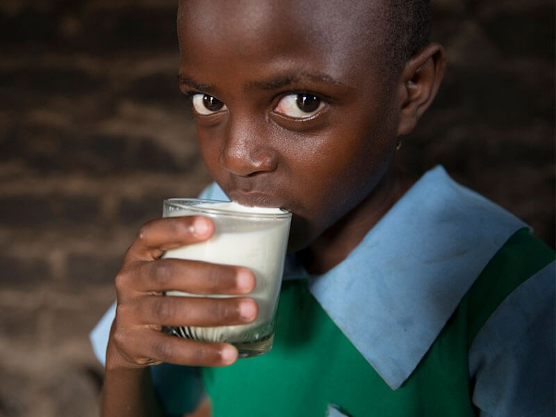 """I drink the milk when it's warm. I can feel the warm milk in my tummy."" – Lucia"