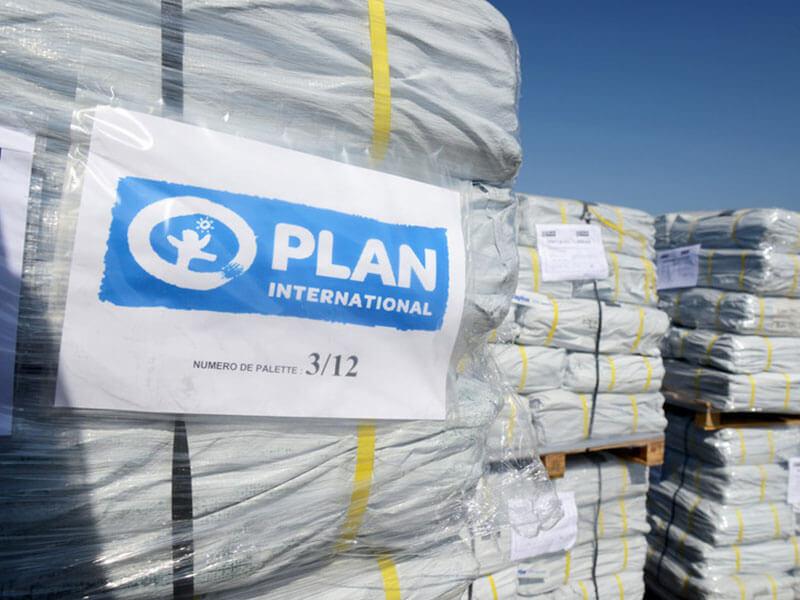 Shipment of tarpaulin, Mozambique