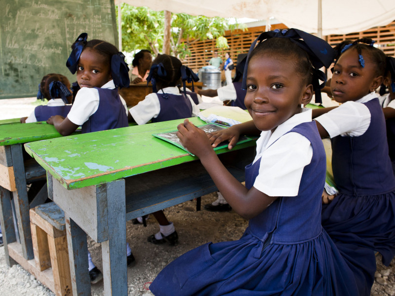 There are more children in school in Haiti than before the earthquake