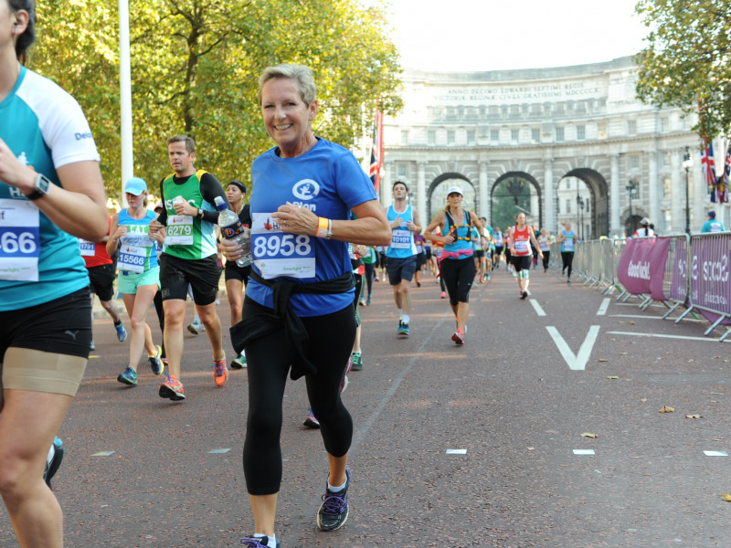 Jan doing the Royal Parks run