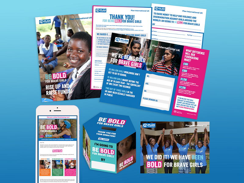 The Be Bold for Brave Girls fundraising pack