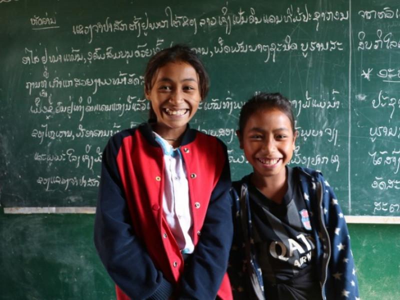 Children at school in Laos