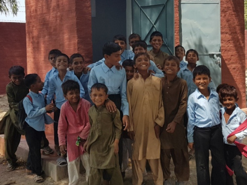 Children at school in Pakistan