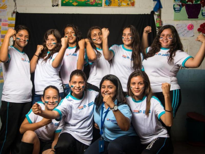 Girls celebrating in El Salvador