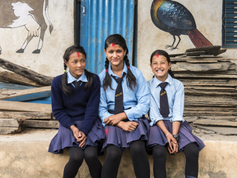 Girls at school in Nepal