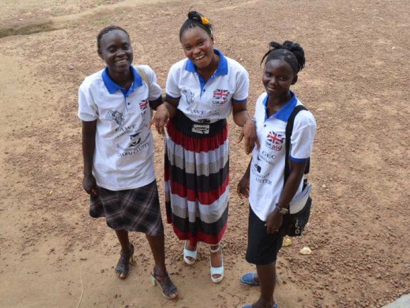 Girls at school in Sierra Leone
