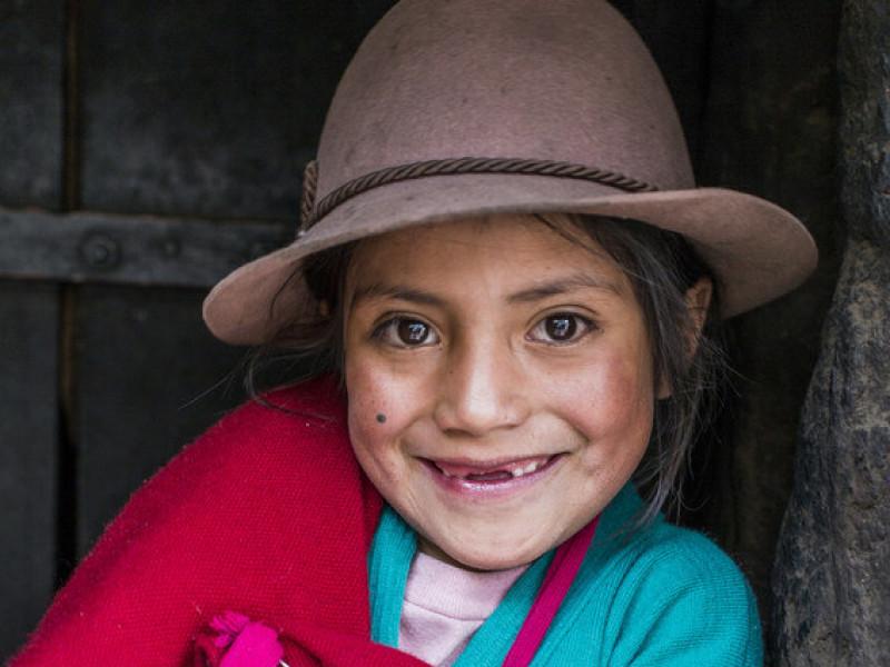 A smiling girl in Ecuador