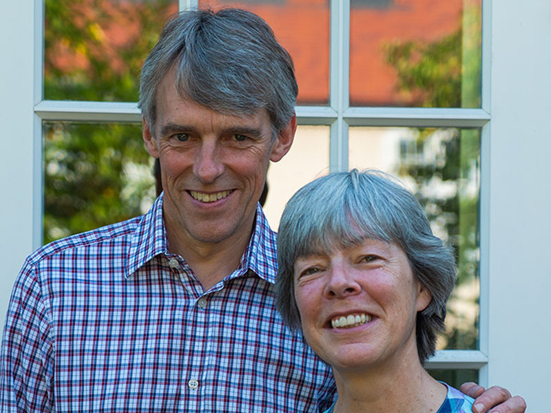 Legacy pledgers Julie and Geoff