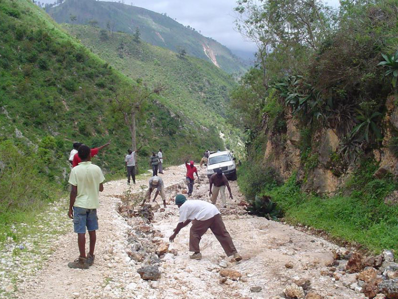 roads are still destroyed from the Haiti earthquake