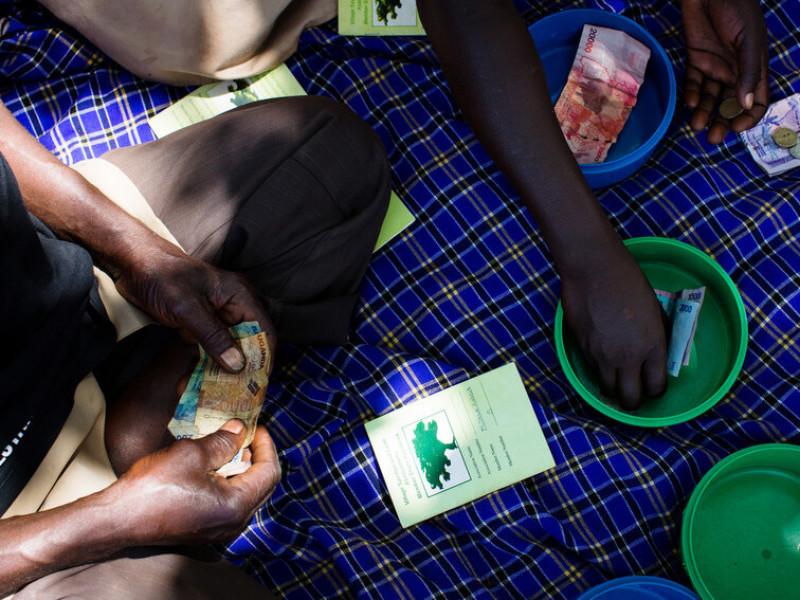 A Village Savings and Group Loans meeting in Kamuli, Uganda