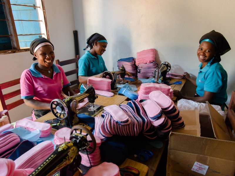 Locally and sustainably made sanitary pads
