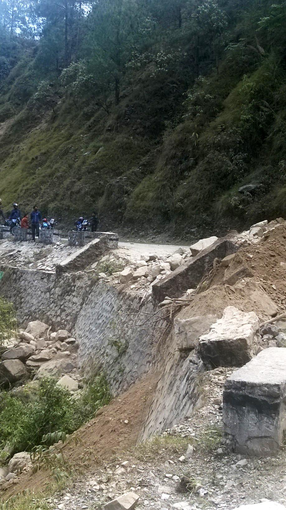 The road to Kathmandu after the Nepal earthquake