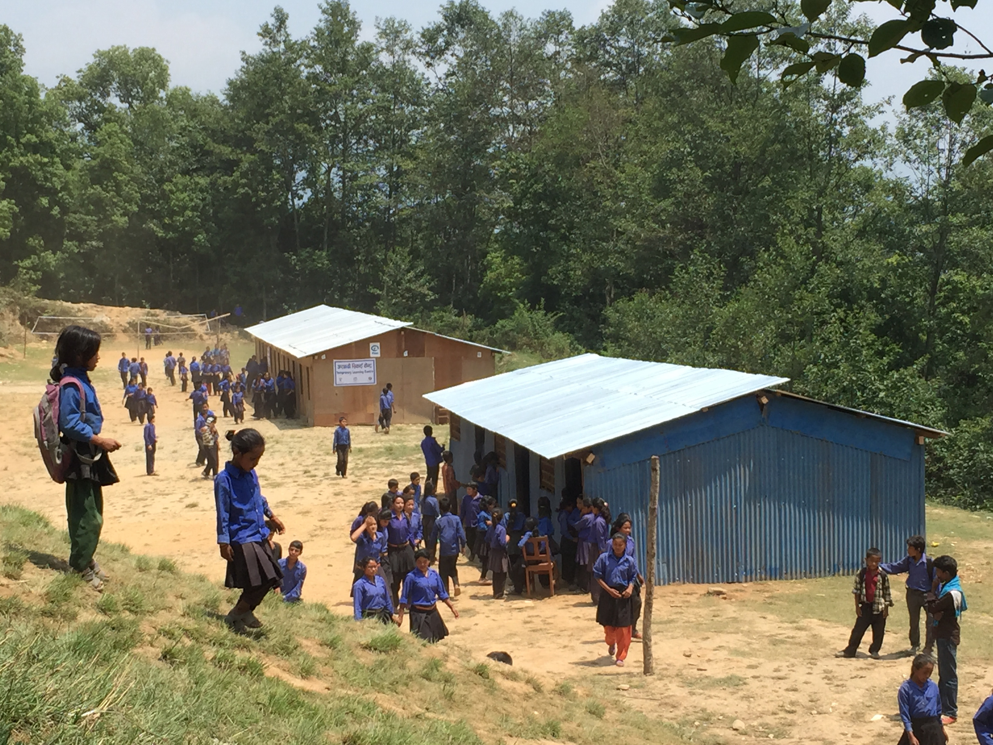 Children return to school after the Nepal earthquakes
