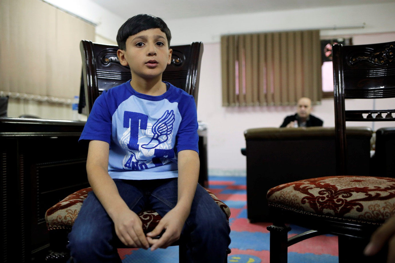 Ahmed slept under his bed after escaping Syria