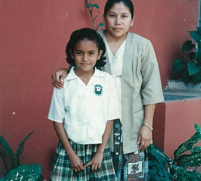 Laura, sponsored child, with her Mother