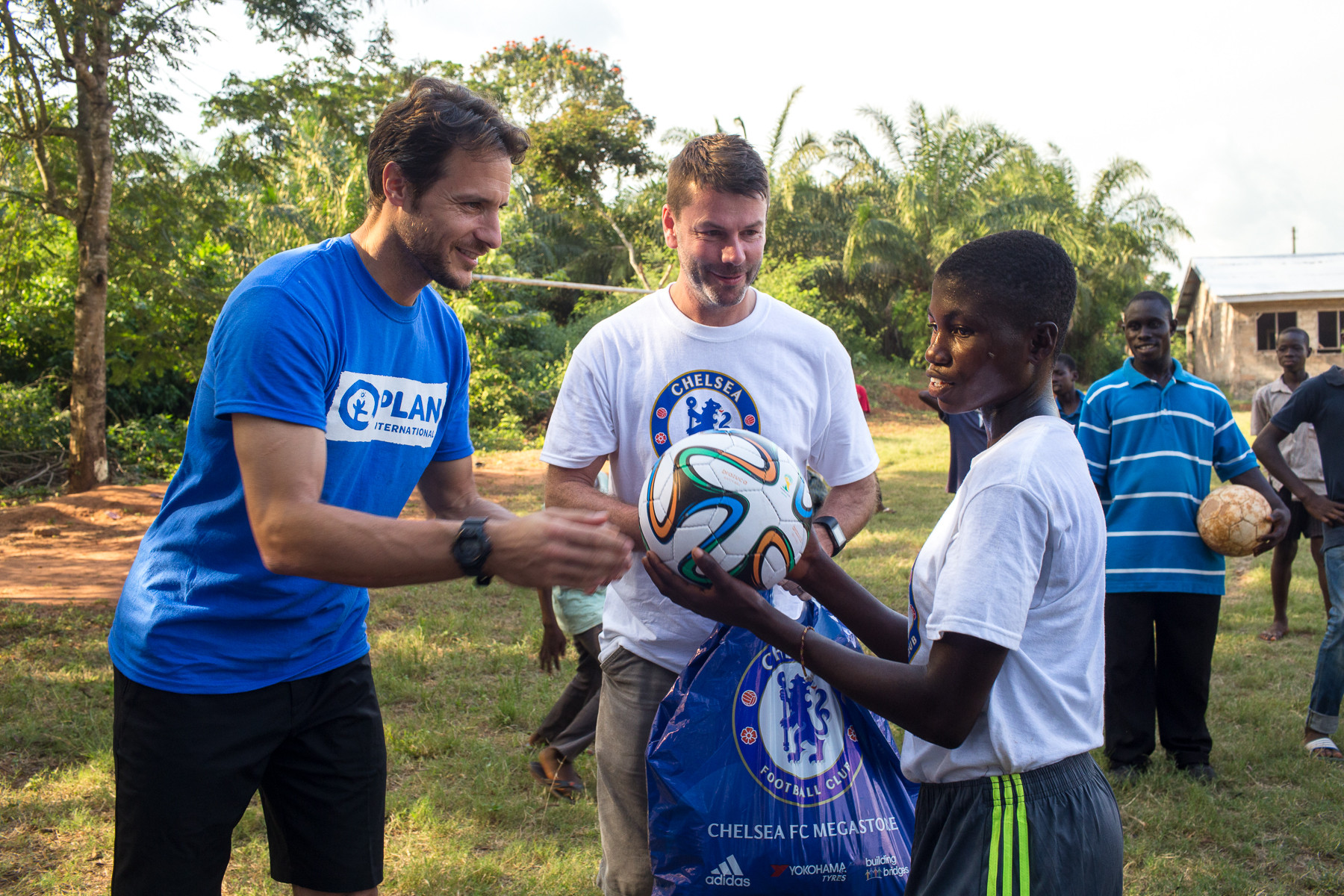 Carlo Cudicini visits a Plan International programme in Ghana