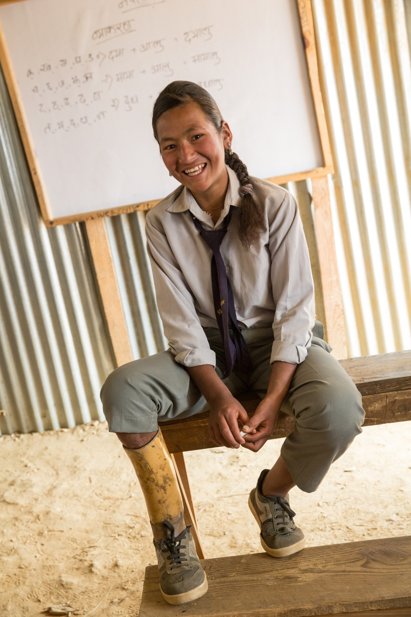 Samita's school will be built back after the earthquake to be more accessible