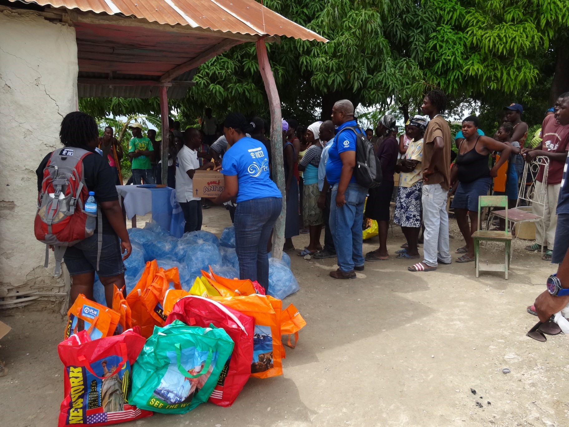 Plan International has been working to deliver aid to Haitians