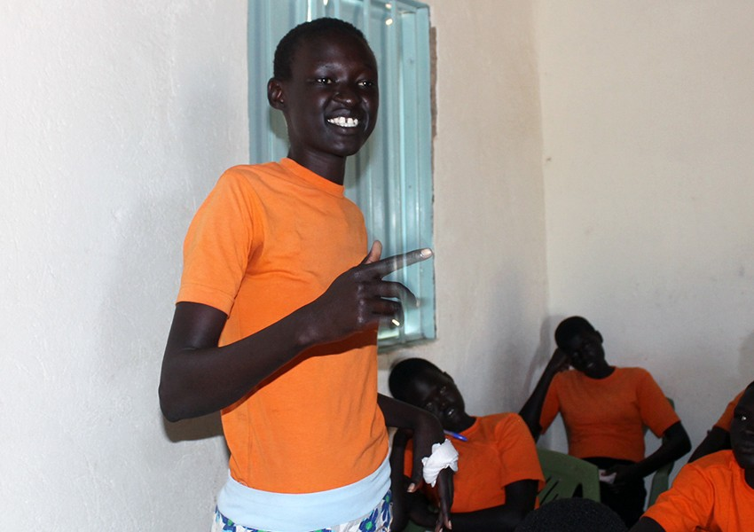 Monica, 17, in South Sudan