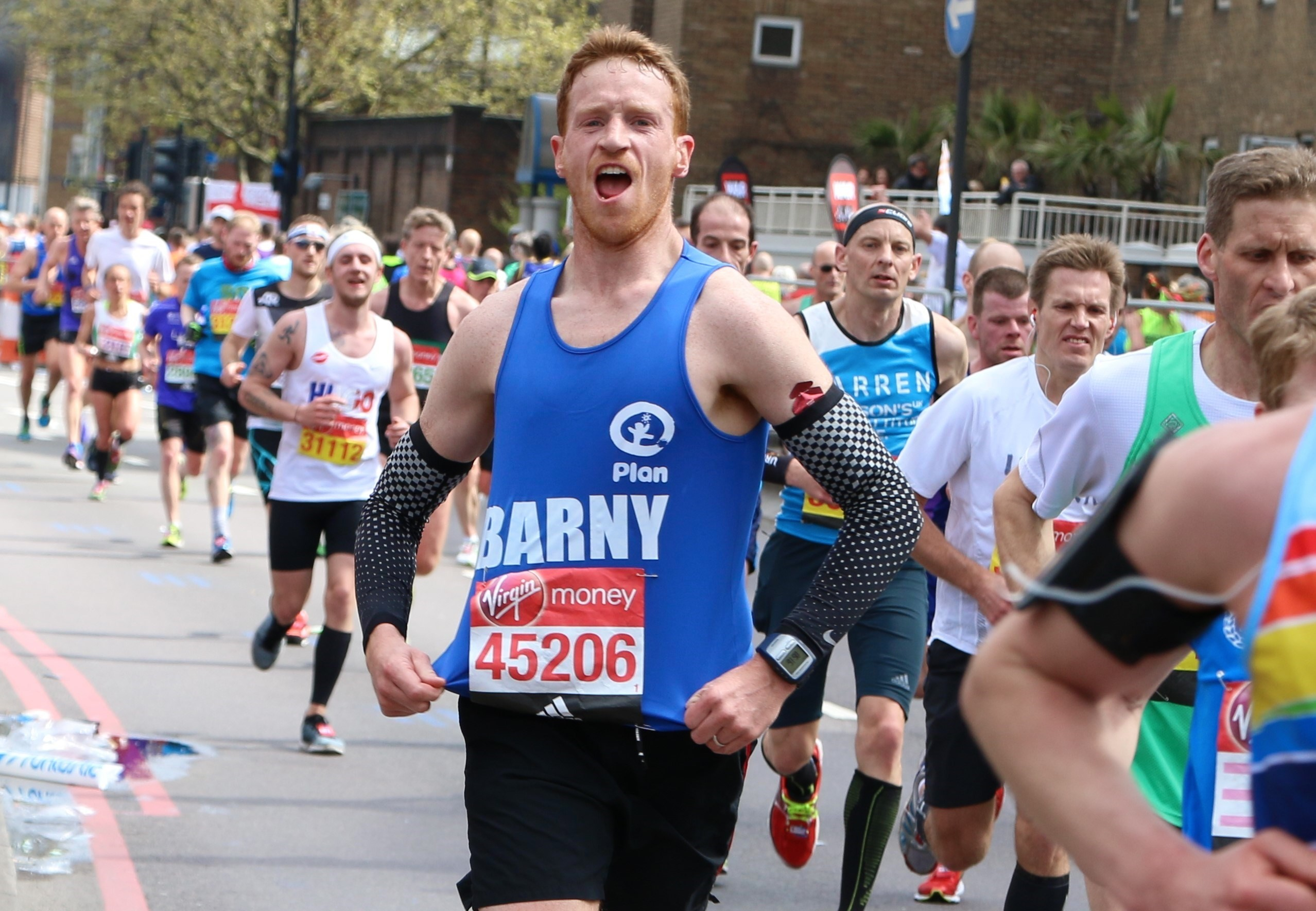 Barny, Plan International UK London marathon runner 2016 image