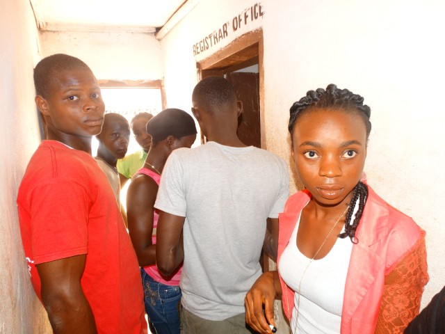 Busy classrooms in Liberia after students return to school