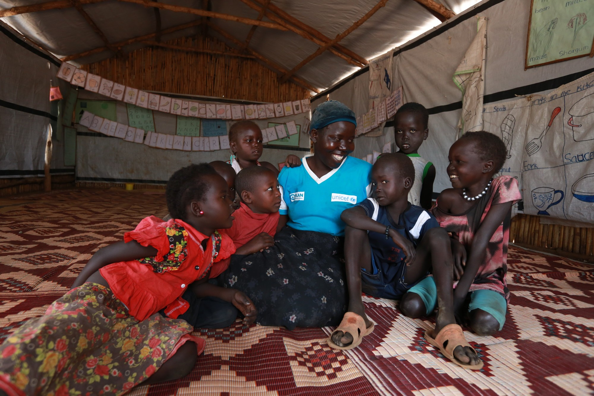 Halima, a volunteer in the South Sudan Early Childhood Care and Development
