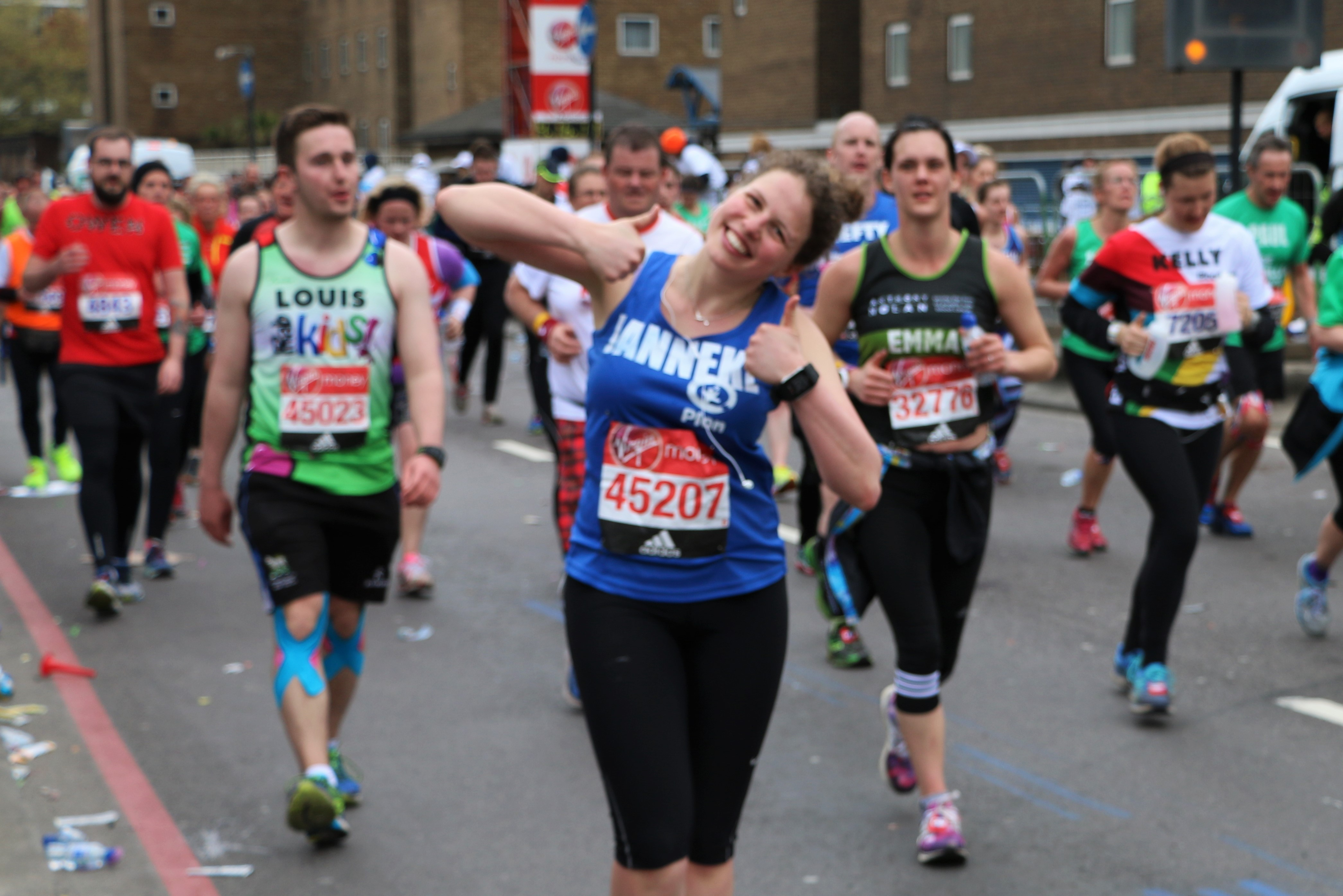 Janneke, a Plan International UK London marathon runner