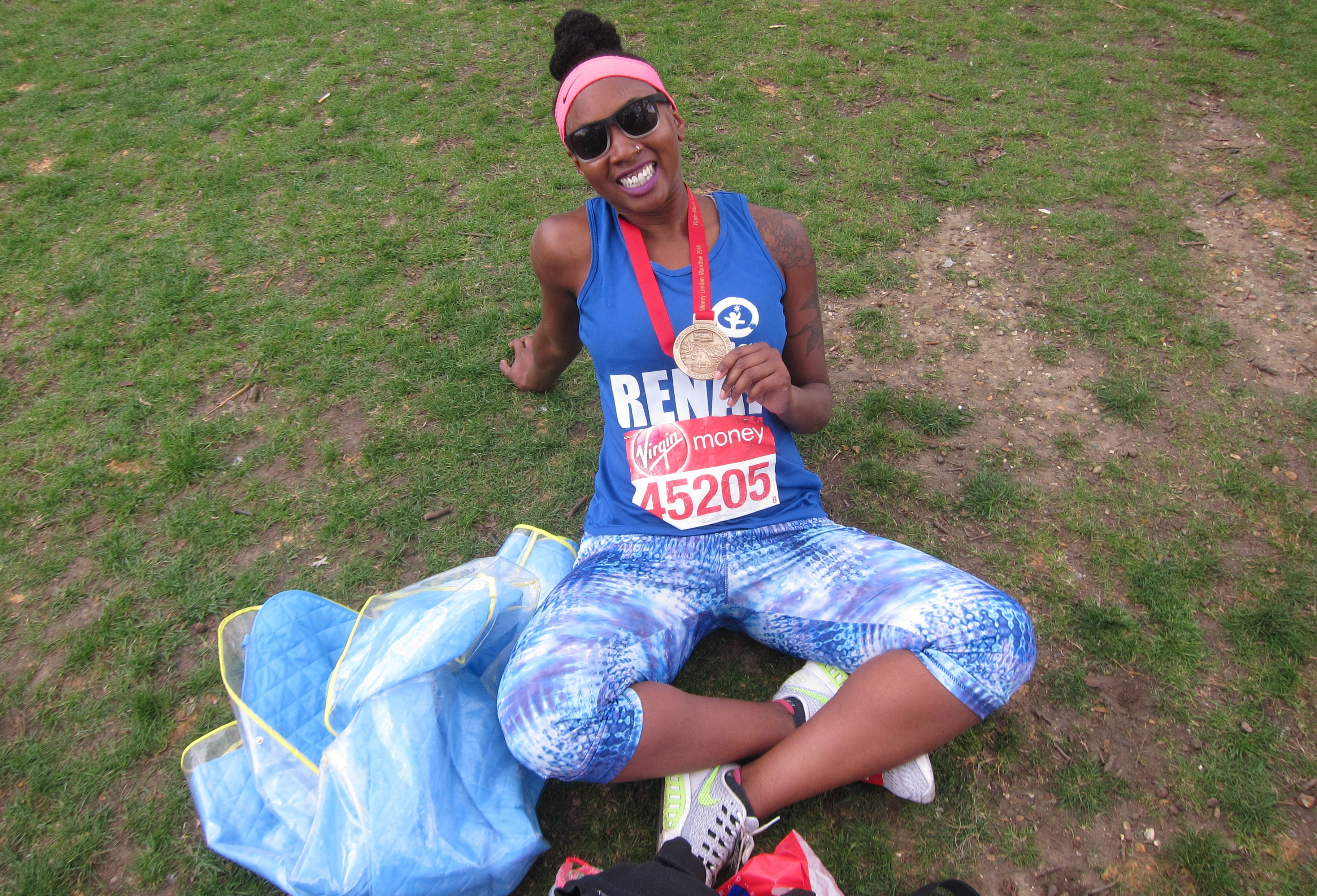 Plan International UK marathon runner Renay
