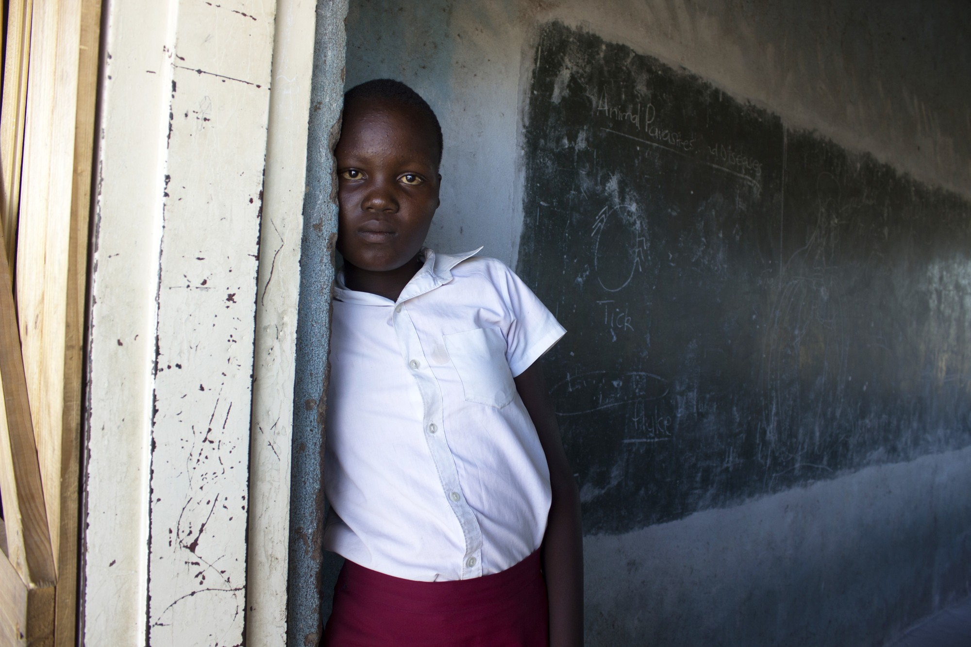 Beauty is weak by the time she walks all the way to school as she doesn't have enough to eat at home because of el nino droughts