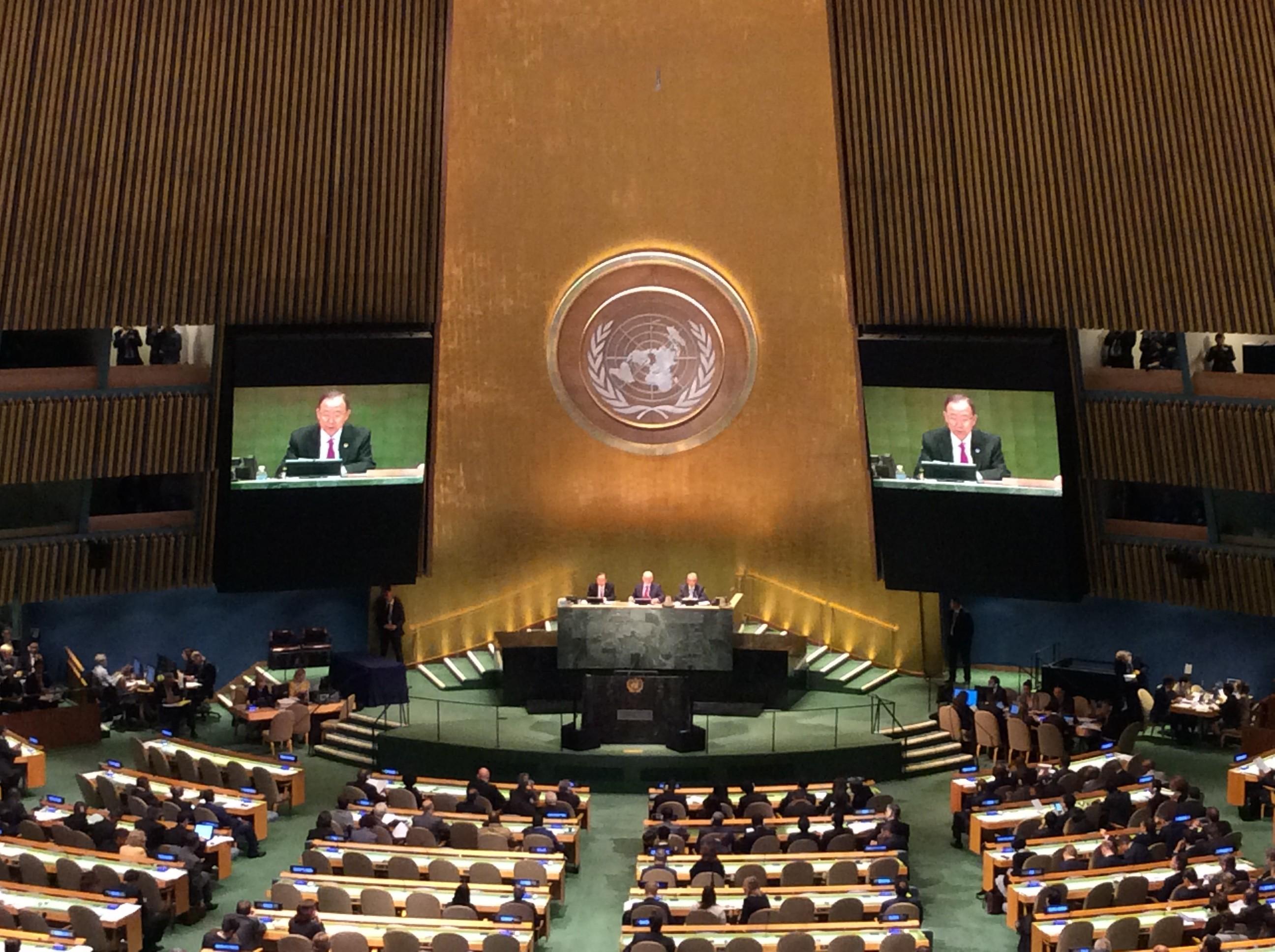 Ban ki Moon at the UN General Assembly in New York