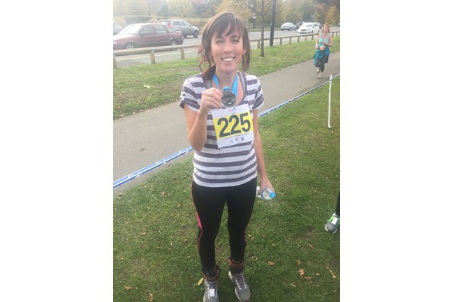 Sarah, who's running a half marathon for Plan International UK
