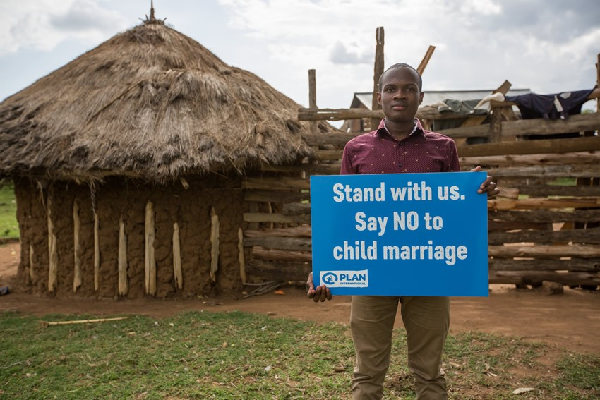 Youth For Change advocate Aidan is standing with brave girls across Tanzania, to change the law on child marriage.