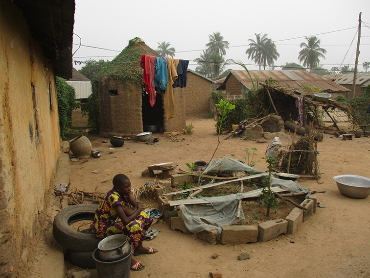 A girl in Togo