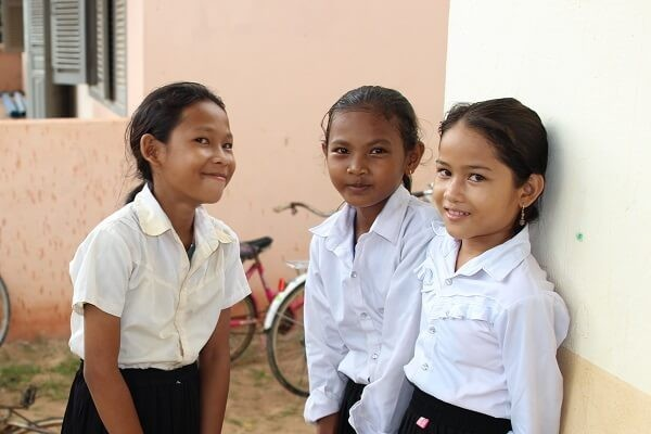 A group of girls in Cambodia