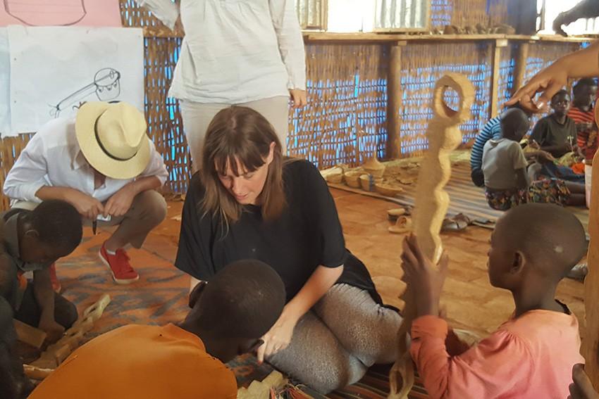 UK Member of Parliament Jess Phillips in Tanzania.