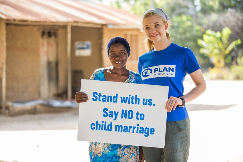 Natalie Dormer and Khadija are standing together to say NO to child marriage in Tanzania