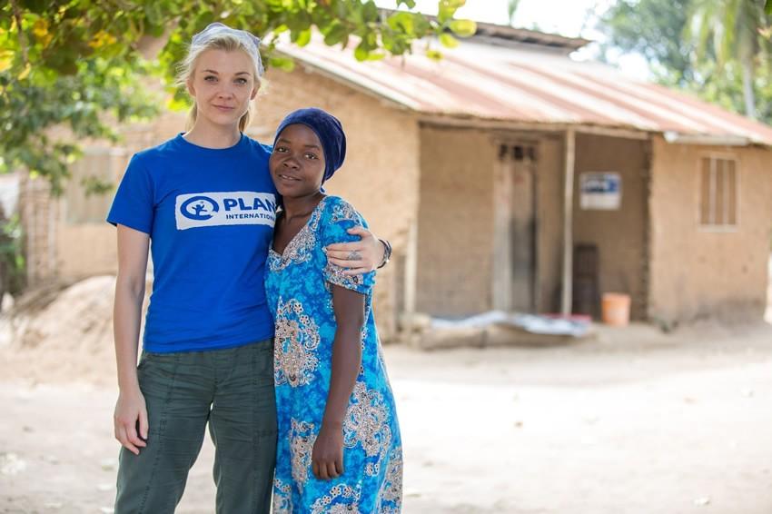 Natalie Dormer meets Khadija in Tanzania