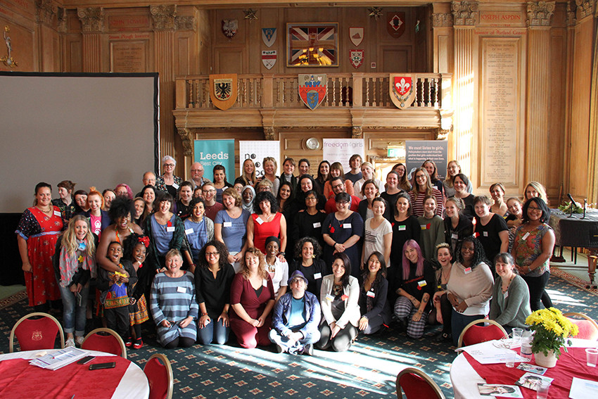 Activists, educators and policy makers at the UK's first Period Poverty Summit in 2017.