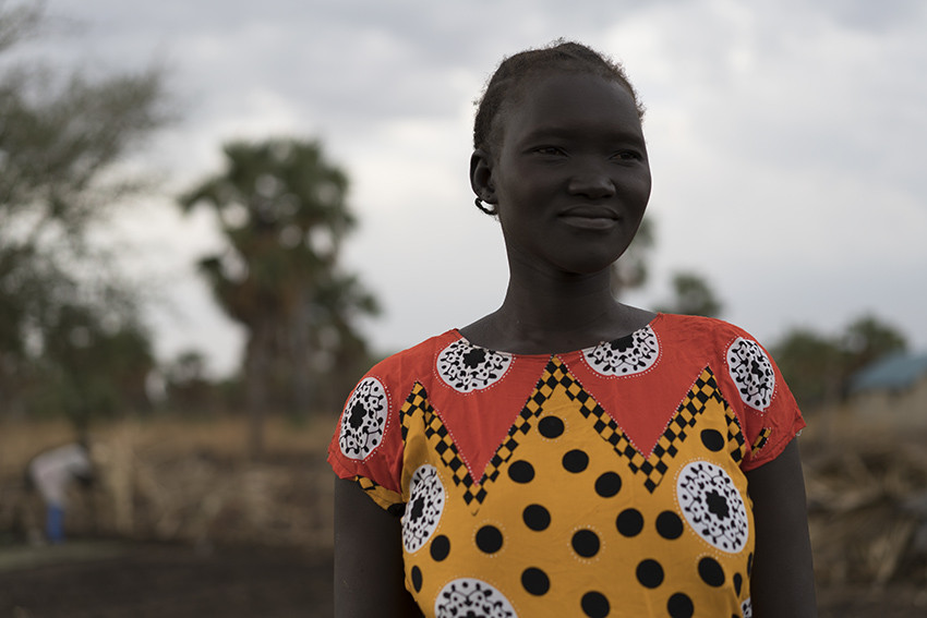 Agum is using the money she makes from selling vegetables to send her sons to school