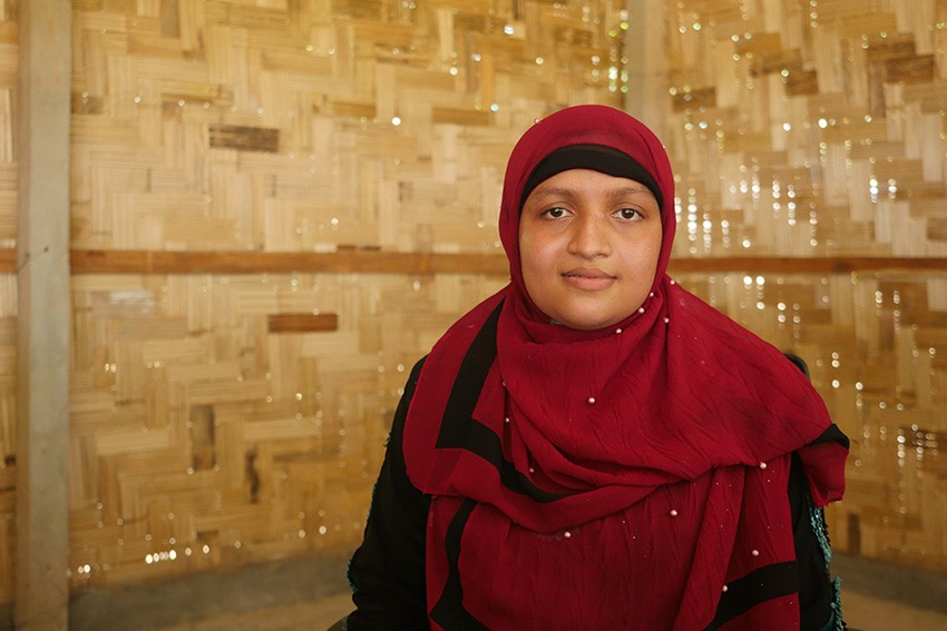 Sadia, 24, is a teacher in the camps in Cox's Bazar