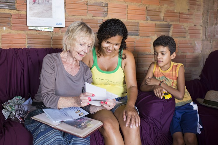 Actor Sheila Reid travelled to Brazil this summer to meet eight-year-old Fernando and his family.
