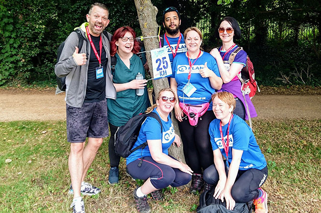 Plan International UK's Thames Path Challenge team